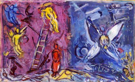 Tableau de Marc Chagall : le songe de Jacob